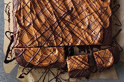 Chocolate & salted caramel traybake
