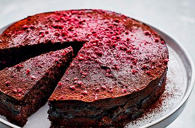 Chocolate & raspberry torte