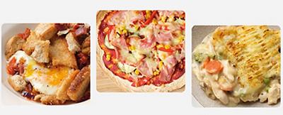 Image of tortilla, shaksuka and fish pie recipes