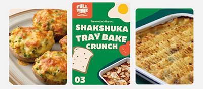 Image of Fish Pie, Shakshuka recipe card and Peas on Toast