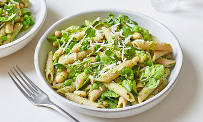 Image of Cannellini bean and watercress pasta