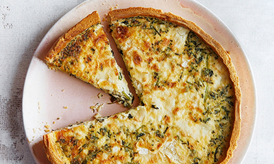 Image of Cheese and watercress quiche