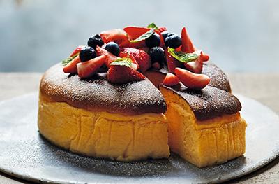 Image of Japanese jiggly cheesecake