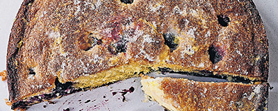 image of Blueberry and lemon drizzle cake