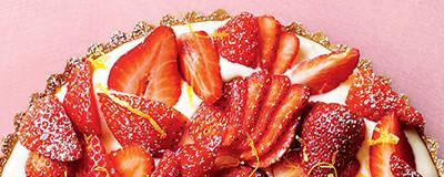 image of Strawberry, mascarpone and lemon curd tart