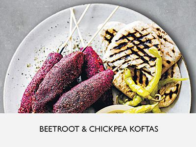 Beetroot and chickpea koftas