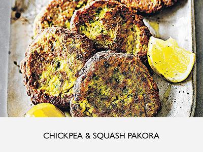 Chickpea and squash pakora