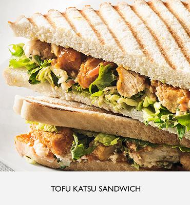 Tofu katsu sandwich