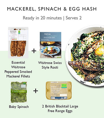 Meal maths Mackerel and spinach baked eggs