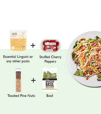image of spicy pepper and ricotta pasta