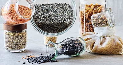 image of unpacked lentils