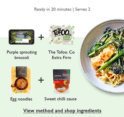 Meal Maths - Broccoli, noodles & tofu