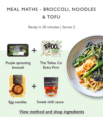 image of Meal Maths - Broccoli, Tofu & Noodles