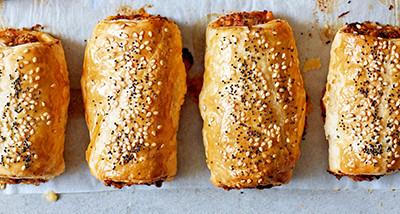 image of Lamb and harissa sausage rolls