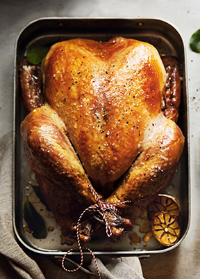 Image of turkey in a tin