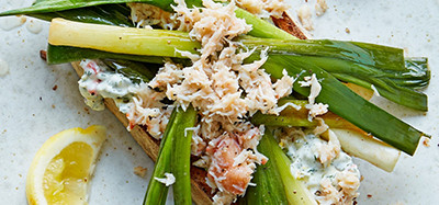 Crab and Leek Salad Lunch
