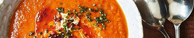 Tomato, red pepper & sweet potato soup