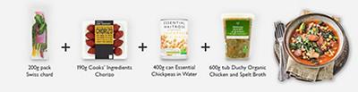 Meal maths - Chickpea, rainbow chard & chorizo stew