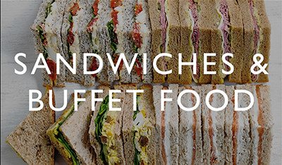 Sandwiches and buffet food