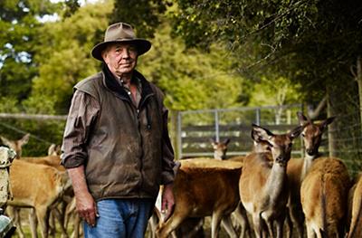 image of a venison farmer, George Walker