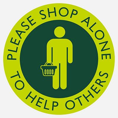 Please shop alone