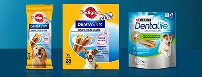 Denta stix and denta life