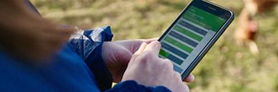 image of close up of the waitrose welfare farm app