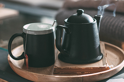 Image of tea cup and pot