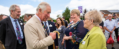 HRH The Prince of Wales meets members of PCF's Farm Resilience Programme. Photo credit: Mark Lord