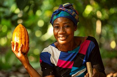 Egny Lea's farm supplies cocoa to Waitrose via the Coobadi cooperative in in Côte d'Ivoire. Photo credit: Abbas Makki