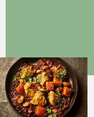 Levantine Table Baharat-Spiced Chicken With Beans