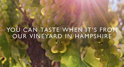 You can taste when it's from our vineyard in Hampshire - image of grapes