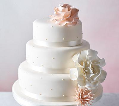 Undecorated wedding cake