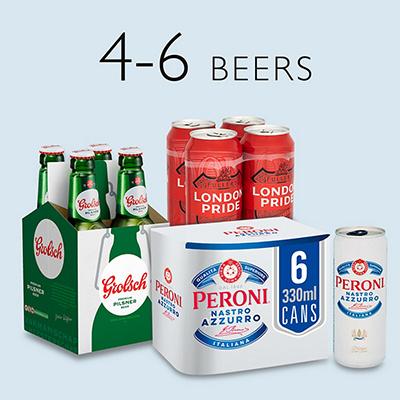Image of 4-6 multipack beers