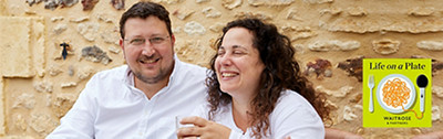 Listen to our podcast, Life on a plate with Sarit Packer and Itamar Srulovich