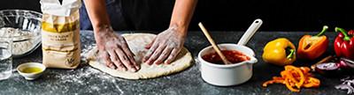 Image of vegetarian pizza