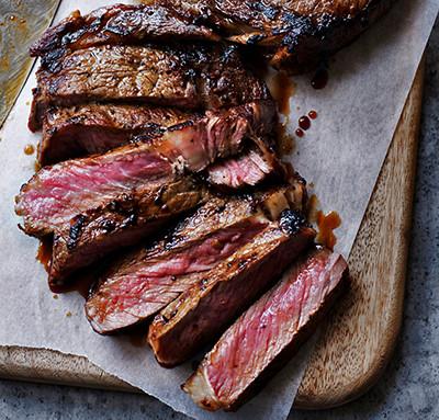 Image of sliced steak