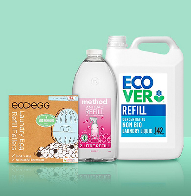 Image of ecover refill products