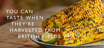 Sweetcorn with chilli, herbs & lime