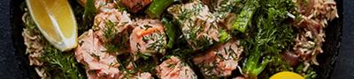 Tandoori salmon & cavolo nero kedgeree