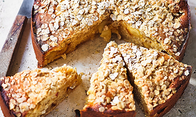 Apple and miso cake with miso butterscotch