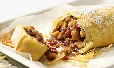 Apple and pear strudel
