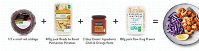 Meal maths - Chilli & orange prawn and potato traybake