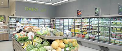 inside one of our grocery shops