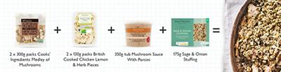 Meal maths - Chicken & mushroom gratin