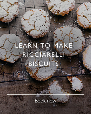 make Ricciarelli biscuits with the cookery school, book now