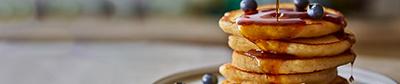 Image of Martha's maple syrup pancakes