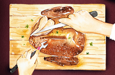 Image of how to carve a turkey