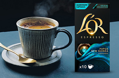 Image of L'Or coffee and beans