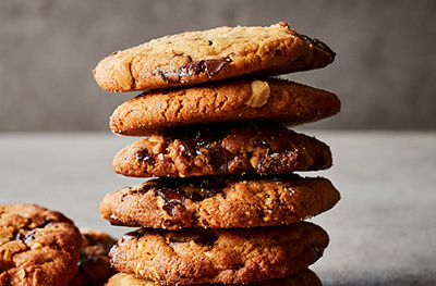 Peanut butter & chocolate chip cookies
